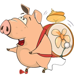 Pig-musician cartoon vector