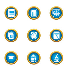 Probe icons set flat style vector