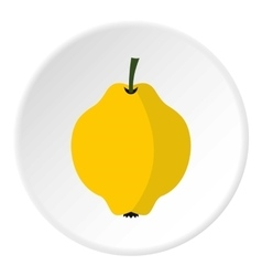 Quince icon flat style vector
