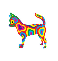 Rainbow dog 9 vector