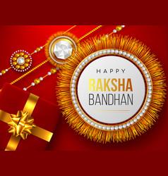 Raksha bandhan red background vector