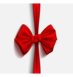 Realistic Ribbon red bow vector image