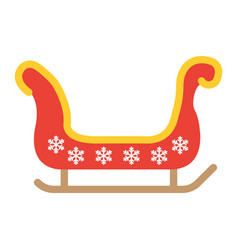 santa sleigh flat icon new year and christmas vector image