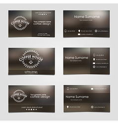 Set business cards for coffee vector