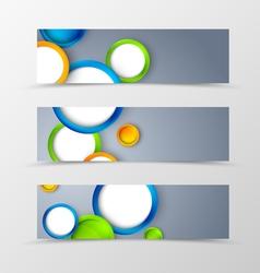 Set of header banner geometric design vector