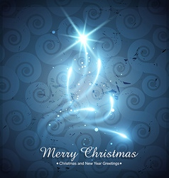 Shiny creative christmas tree vector