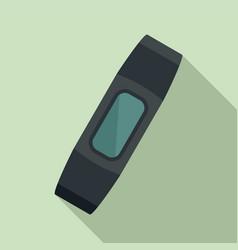 smart bracelet device icon flat style vector image