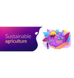 Sustainable agriculture concept banner header vector