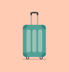 travel luggage in flat style vector image