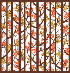 trees woods seamless stripes pattern forest trees vector image