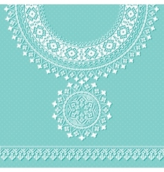 vintage necklace Embroidery for fashion vector image