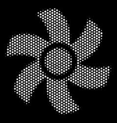 White pixel rotor icon vector