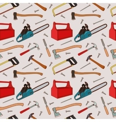 Woodworking tools pattern vector
