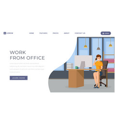 work from office landing page template personal vector image