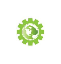world environment logo icon template vector image