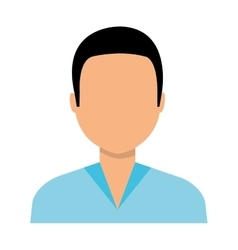 Young male profile colorful icon vector image