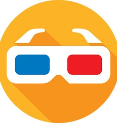 3D Glasses Icon vector image vector image