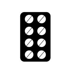Blister pack pills vector