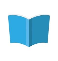 book blue paper open icon graphic vector image