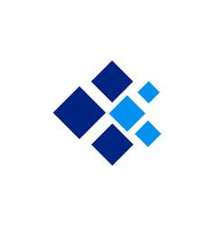 Data technology square logo vector