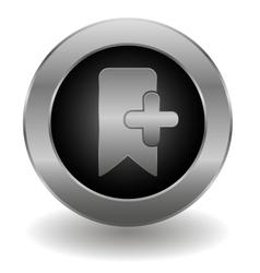 Metallic bookmark button vector image