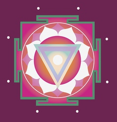 spring yantra for health vector image