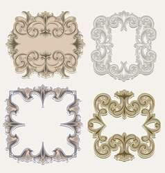 victorian frames vector image vector image