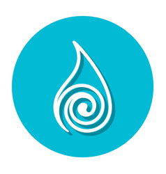 abstract line water symbol on a circle vector image vector image