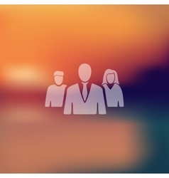 business people icon on blurred background vector image