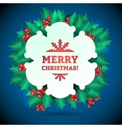 Christmas Holly Garland Messages and vector image