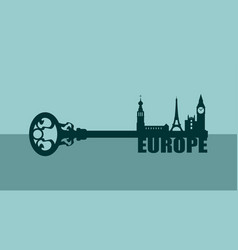 diversity monuments of europe vector image vector image