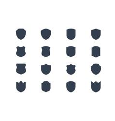 Shield shapes vector image