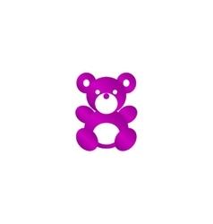 Teddy bear plush toy flat icon vector image