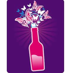 bottle spring vector image vector image