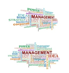 Management tags cloud vector image