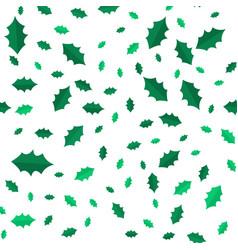 Mistletoe christmas tree leaves seamless pattern vector