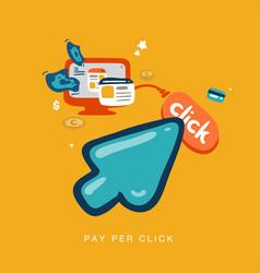 pay per click vector image