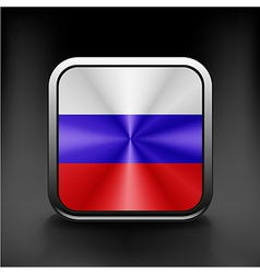 Russia flag national travel icon country symbol vector