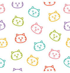 Seamless pattern with colorful cats vector image vector image
