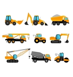 Building construction machinery equipment vector image vector image