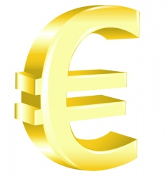 euro sign vector image vector image