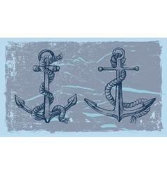 hand drawn anchor vector image vector image