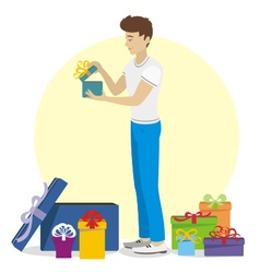 Present for young man vector image