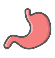 stomach filled outline icon medicine healthcare vector image vector image