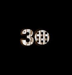 30 years anniversary celebration elegant black vector