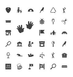 33 small icons vector