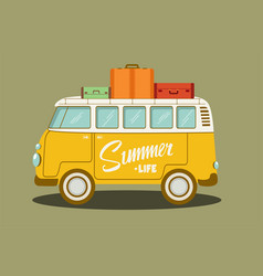 a retro bus vector image