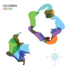 Abstract color map colombia vector
