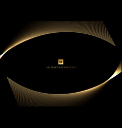 abstract gold curve line design shiny golden vector image