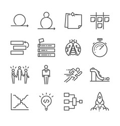 agile software development icons set vector image